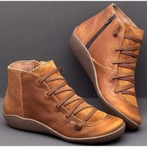 Shoes - Lucyever Women PU Leather Ankle Boots Autumn